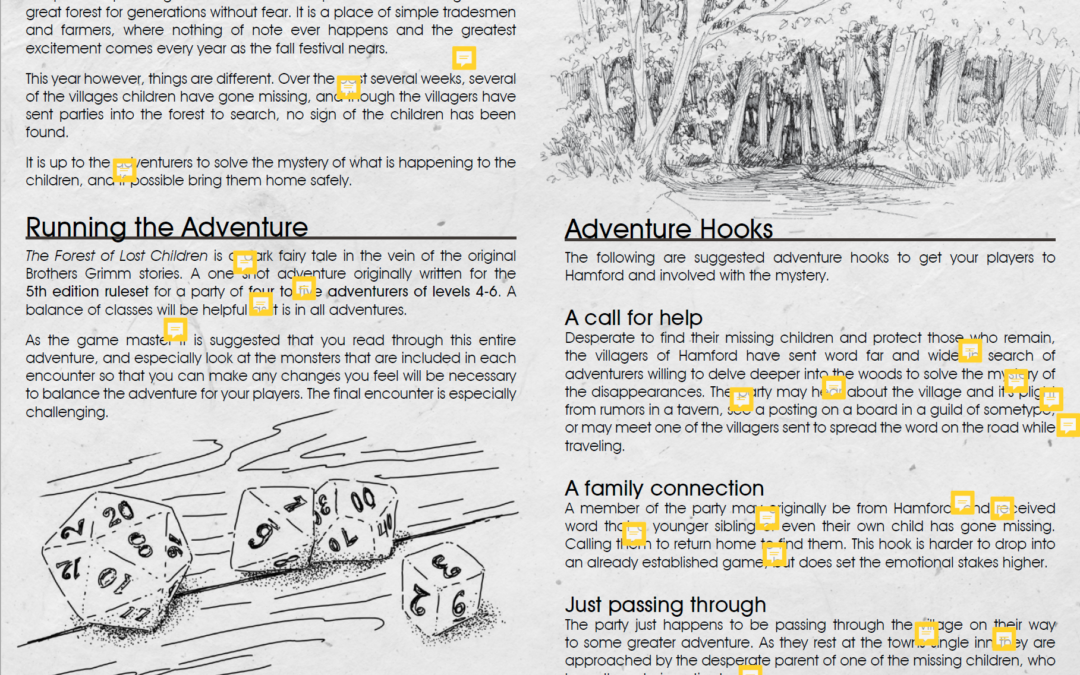 Producing an RPG Zine Adventure